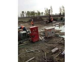 2长白铁路旋喷桩施工现场